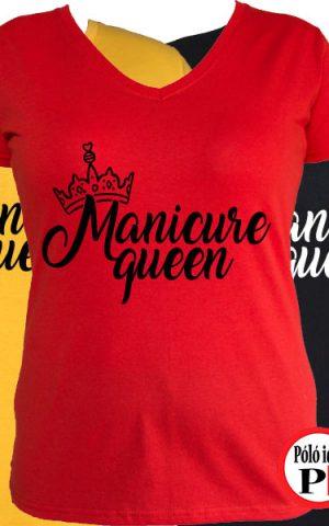 körmös póló manicure queen