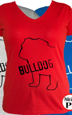 kutya póló bulldog női