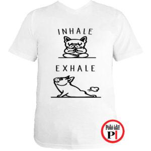 kutya póló inhale fehér