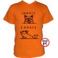 kutya póló inhale narancs
