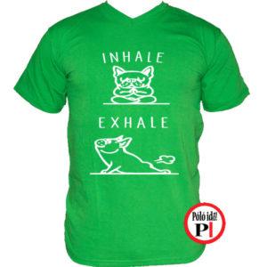 kutya póló inhale zöld