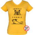 kutya póló inhale női citrom