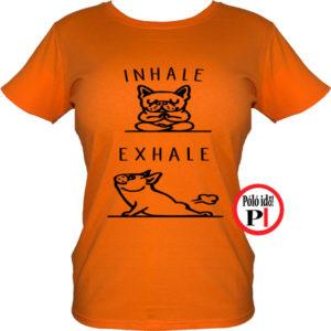 kutya póló inhale női narancs