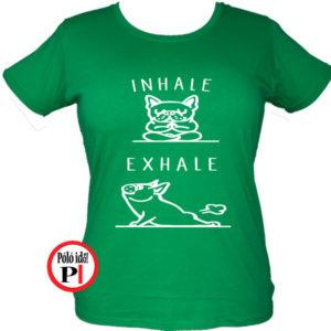 kutya póló inhale női zöld