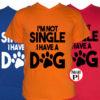 kutya póló not single