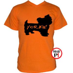 kutya póló yorkie narancs