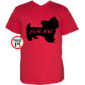 kutya póló yorkie piros