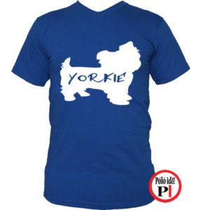 kutya póló yorkie kék