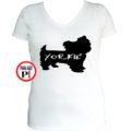 kutya póló yorkie női fehér