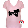 kutya póló yorkie női pink