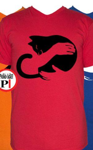 macska póló ölelés