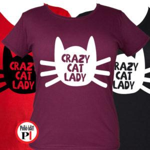 macska póló örült cicás