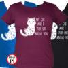 macska póló talking shit női