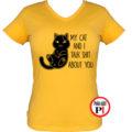 macska póló talking shit női citrom