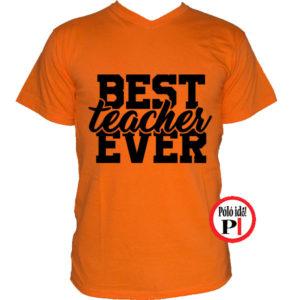 tanár póló best narancs