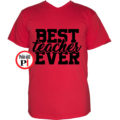 tanár póló best piros