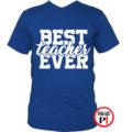 tanár póló best kék