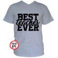 tanár póló best szürke
