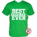 tanár póló best zöld
