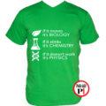 tanár póló if it zöld