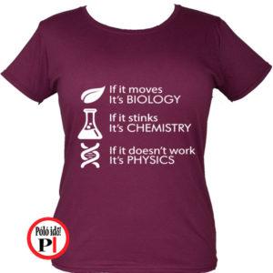 tanár póló if it női burgundi