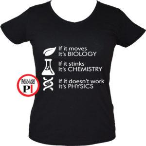 tanár póló if it női fekete