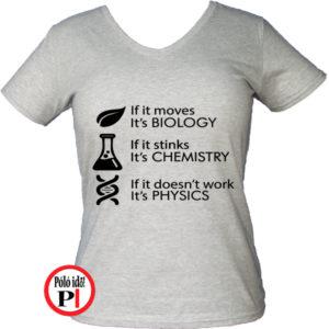 tanár póló if it női szürke
