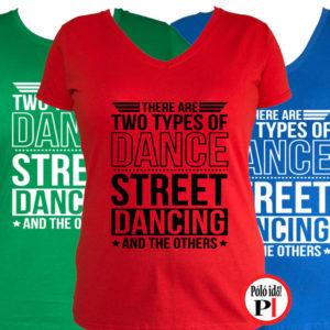 tánc póló street női