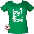 cicás póló nope női zöld