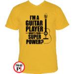 gitáros póló citrom