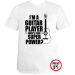 gitáros póló fehér