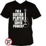 gitáros póló fekete