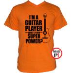 gitáros póló narancs