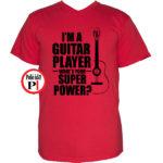 gitáros póló piros