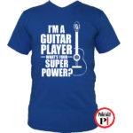 gitáros póló kék