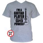 gitáros póló szürke