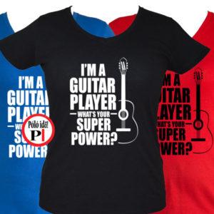 gitáros póló női