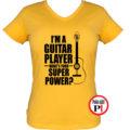 gitáros póló női citrom