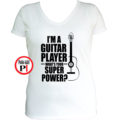 gitáros póló női fehér