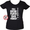 gitáros póló női fekete