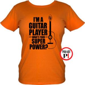 gitáros póló női narancs