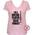 gitáros póló női pink