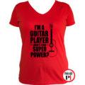 gitáros póló női piros