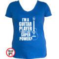 gitáros póló női kék