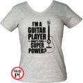 gitáros póló női szürke