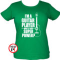 gitáros póló női zöld