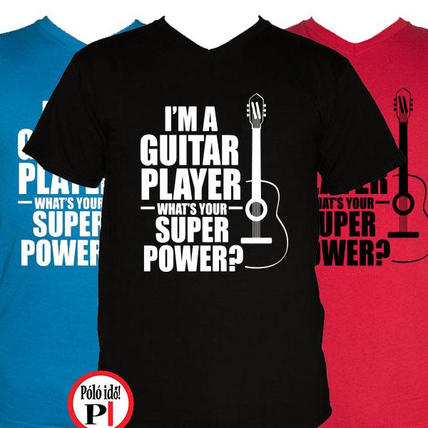 gitáros póló