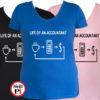 könyvelő póló life női