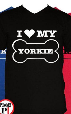 kutya póló love my yorkie