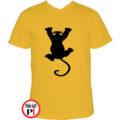 macska póló fal macska citrom